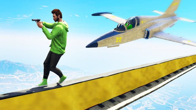 IMPOSSIBLE TIGHTROPER vs. JETS! (GTA 5 Funny Moments)