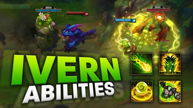 IVERN IN GAME ABILITIES PREVIEW/FIRST-LOOK! [League of Legends]
