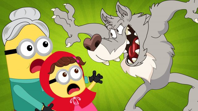 Minions Banana Little Red Riding Hood Crying vs Wolf Full Movie! Finger Family Song Nursery Rhymes