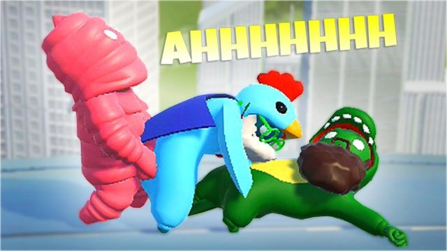 MOST FAMILY FRIENDLY GAME EVER (Gang Beasts Funny Moments)