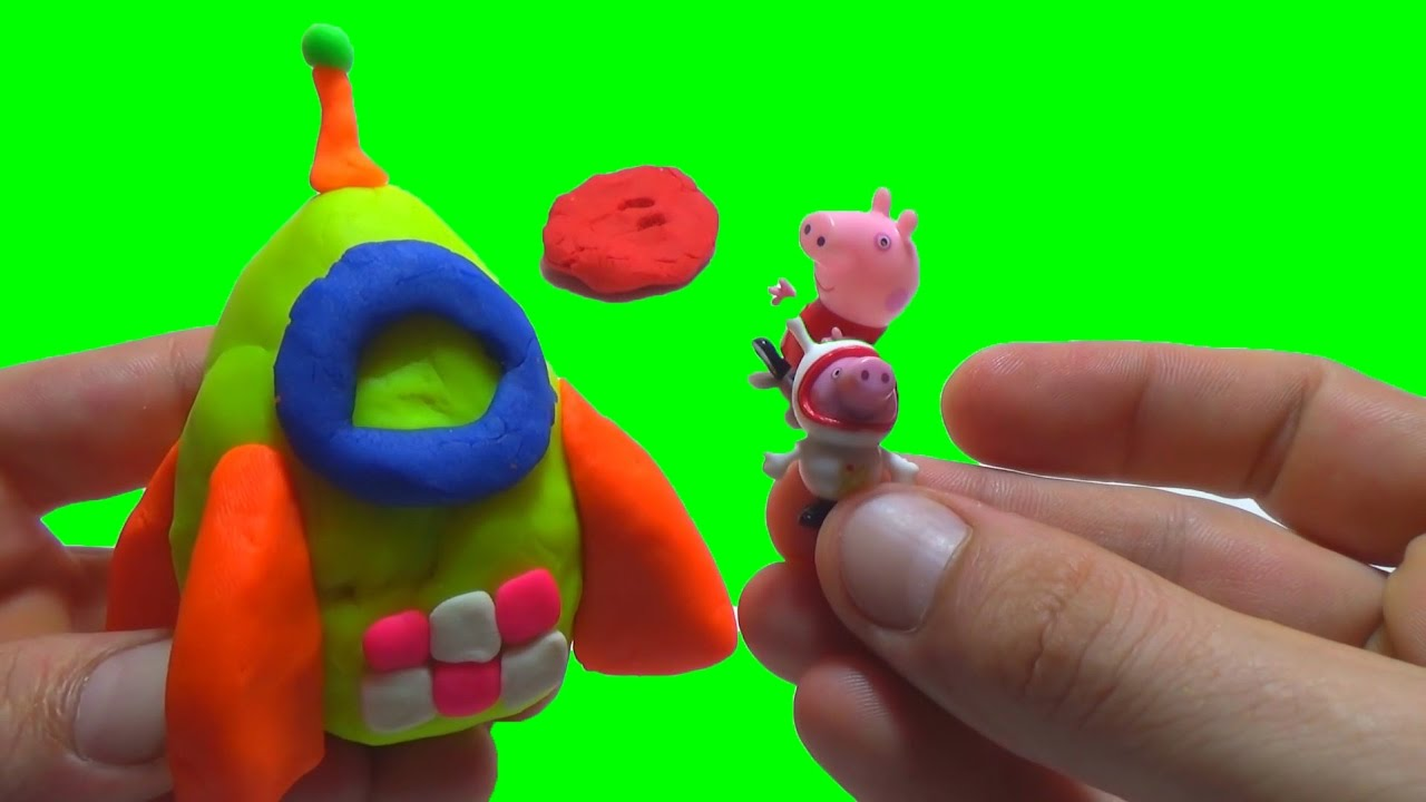 Education Video Peppa Pig is Building a Rocket For Brother George Pig Plasticine Play Doh
