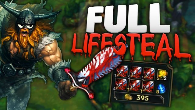 130% LIFESTEAL?? FULL LIFESTEAL OLAF TOP [League of Legends/LoL]