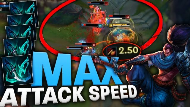 MAX 2.5 ATTACK SPEED YASUO [100% CRIT] EPIC FULL BUILD – League of Legends