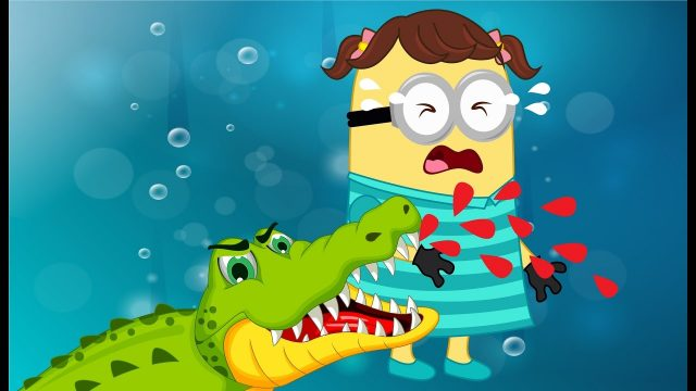 Minions Banana Crocodile Attack & Hurts on Hand Crying Full Movie! Finger Family Song Nursery Rhymes