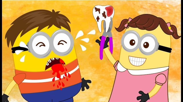 Minions Eating Banana and His Sister Treats Teeth Full Movie! Finger Family Song Nursery Rhymes